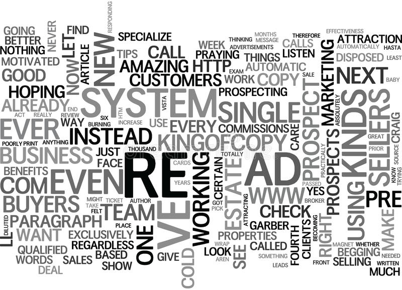What S In It For Your Prospects Word Cloud stock illustration