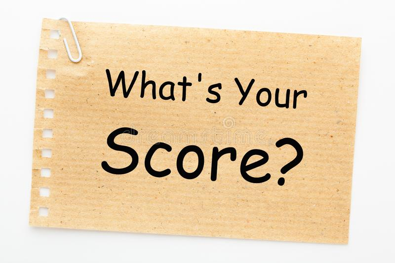 What`s Your Score royalty free stock photography