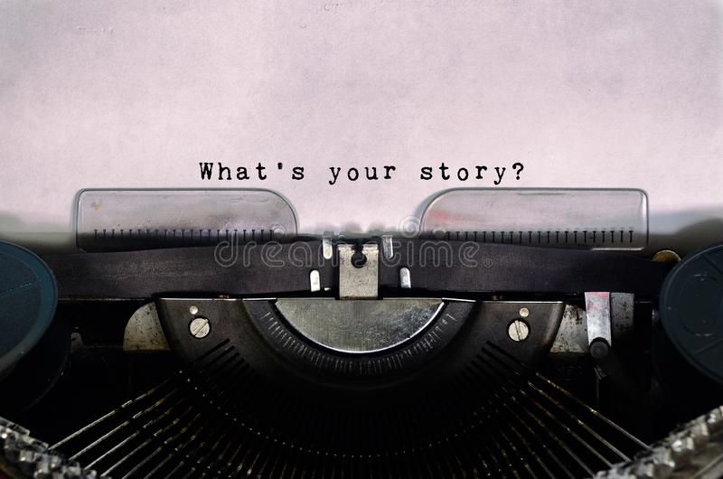 What`s your story? stock image