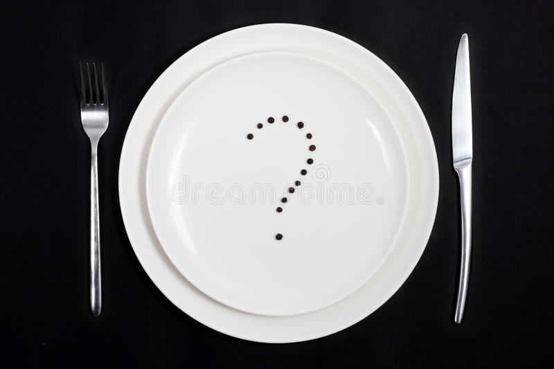 What shall we have today for dinner? stock image