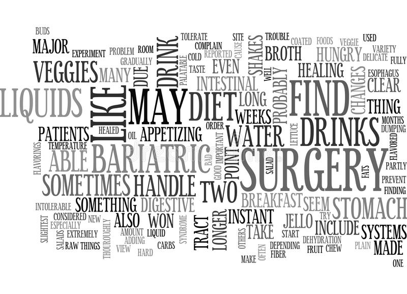 What Should We Do After Bariatric Surgery Word Cloud stock illustration