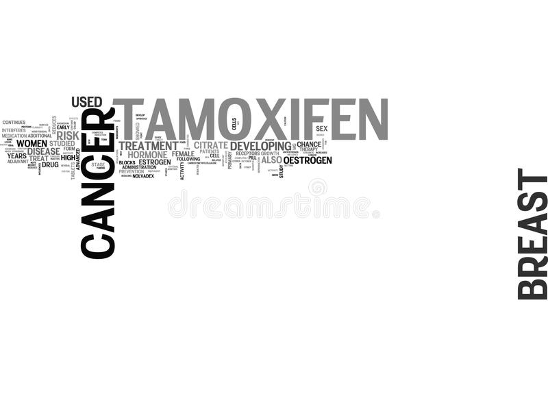 What Is Tamoxifen Word Cloud vector illustration
