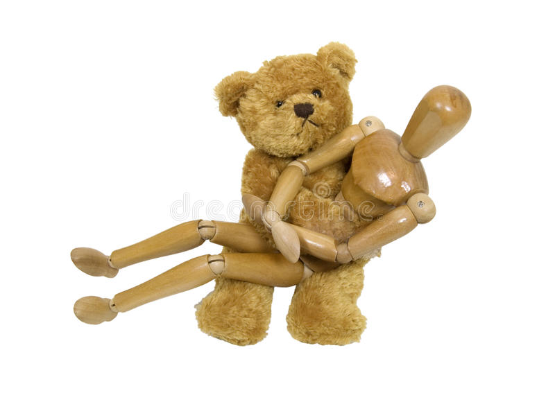 What Teddy Bears hug royalty free stock photo