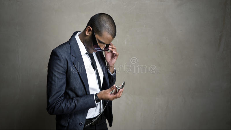 Download What time is it? stock photo. Image of person, skinny - 13446320