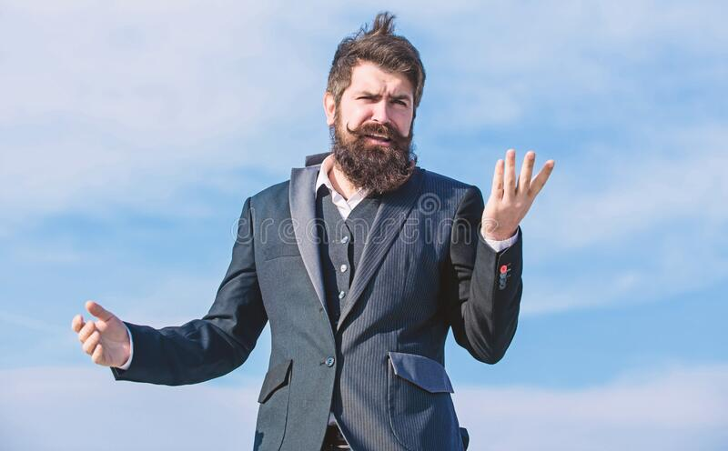 What to do next. help with desision. Mature hipster with beard. Bearded man. Future success. Male formal fashion. brutal stock image