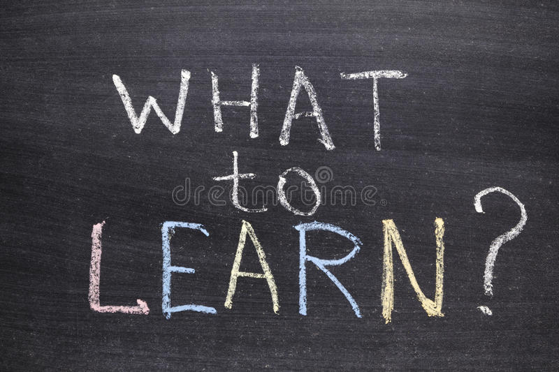 Download What to learn stock illustration. Image of education - 33913636