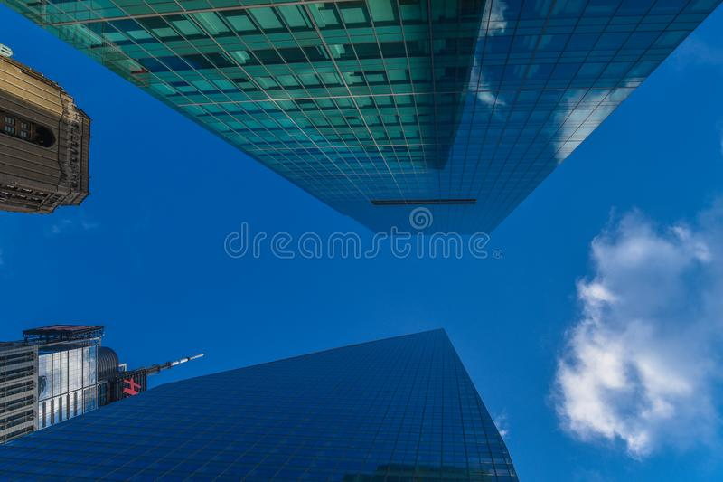 The endless high rise buildings in Manhattan stock images