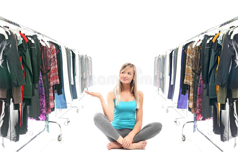 Download What to wear ? stock image. Image of expression, happy - 10804153