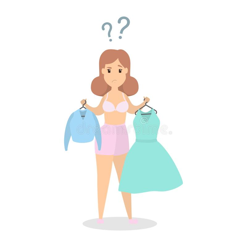 What to wear. vector illustration