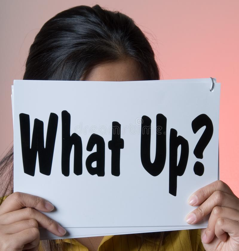 What up - Sign Series royalty free stock images