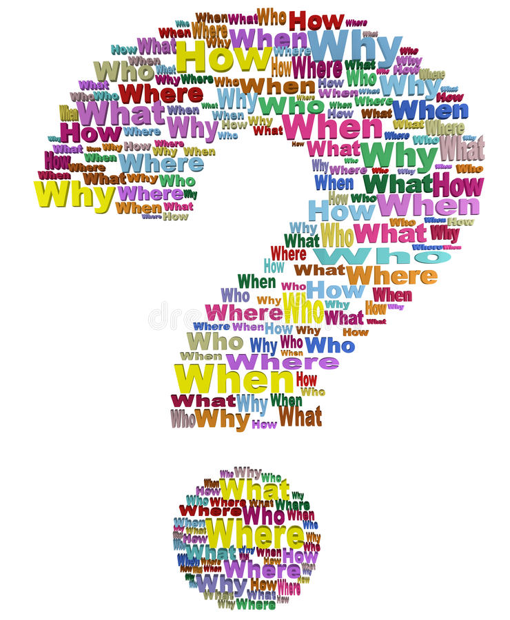 What When Why Questions stock images