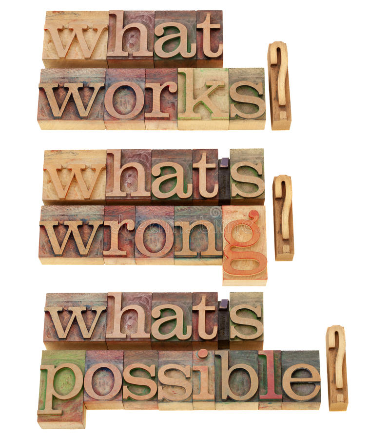 What Works - Questions Collage Royalty Free Stock Photo