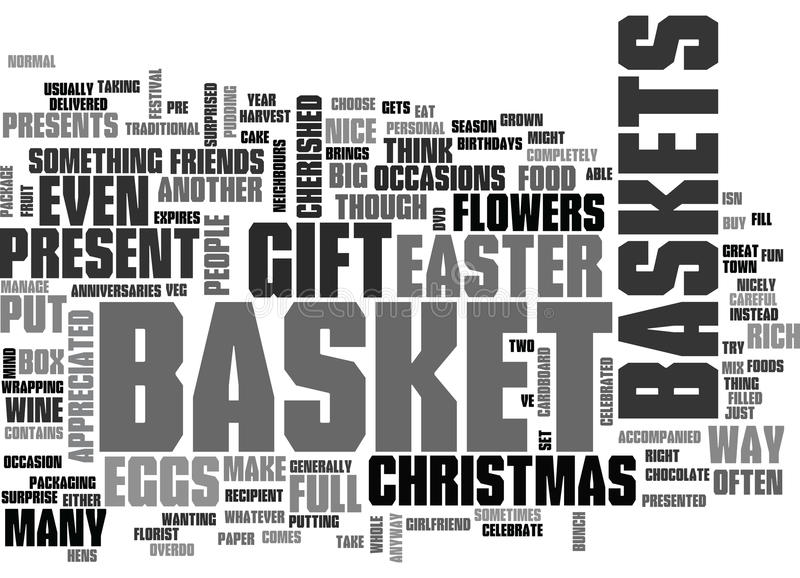 download what would you put in your gift basket word cloud stock illustration illustration of
