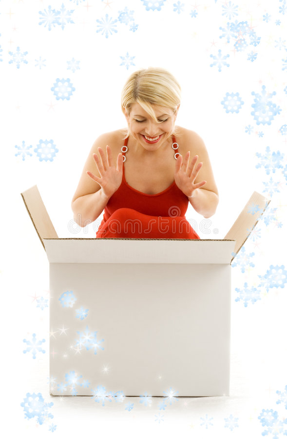 Download What a xmas surprise! stock image. Image of copyspace - 1598089