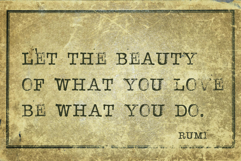 What you do Rumi royalty free illustration