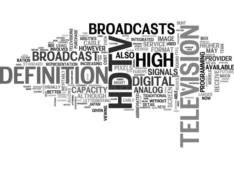 What You Need To Know About Hdtv Word Cloud. WHAT YOU NEED TO KNOW ABOUT HDTV TEXT WORD CLOUD CONCEPT royalty free illustration
