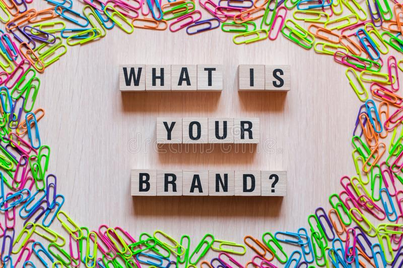 What is your brand words concept royalty free stock images
