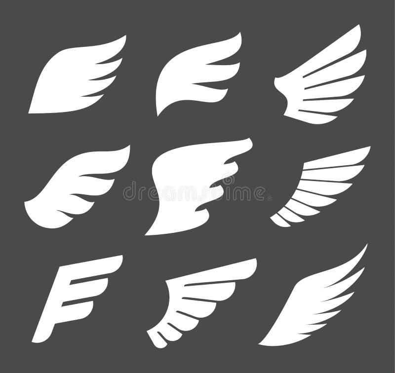 Whate se va volando iconos ilustración del vector