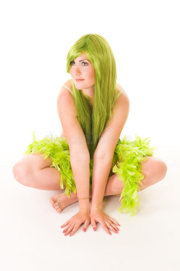 Download Whater Nymph With Green Hair Stock Image - Image: 9742207