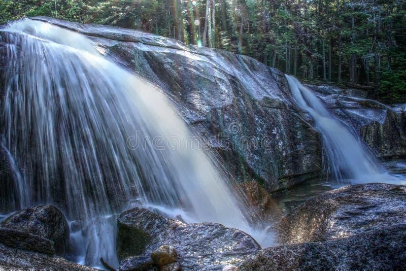 Whaterfall no parque nacional da montanha branca, New Hampshire, EUA fotos de stock