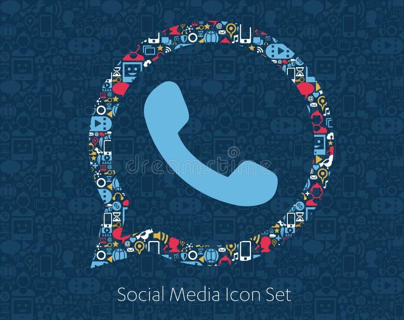 Whats App Social Media Icons royalty free illustration