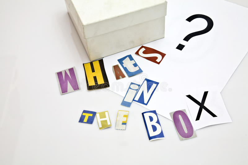 Whats in the box royalty free stock photo