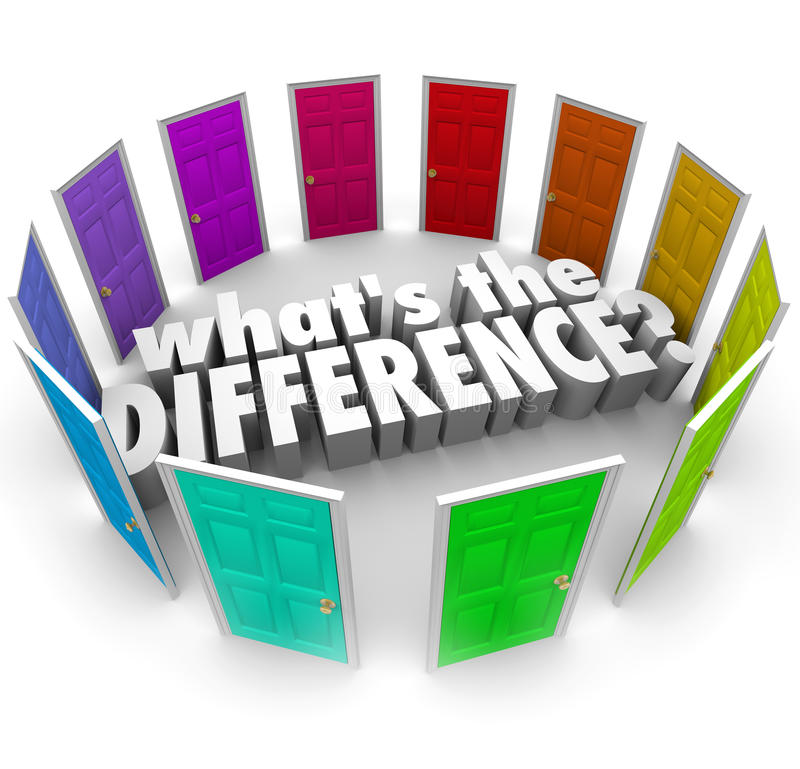 Whats the Difference Many Options Comparing Alternative Ideas Do royalty free illustration