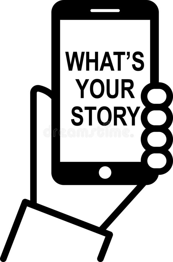 What`s your story royalty free illustration