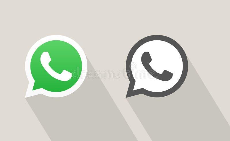 Whatsapp信使电话传染媒介象 库存照片