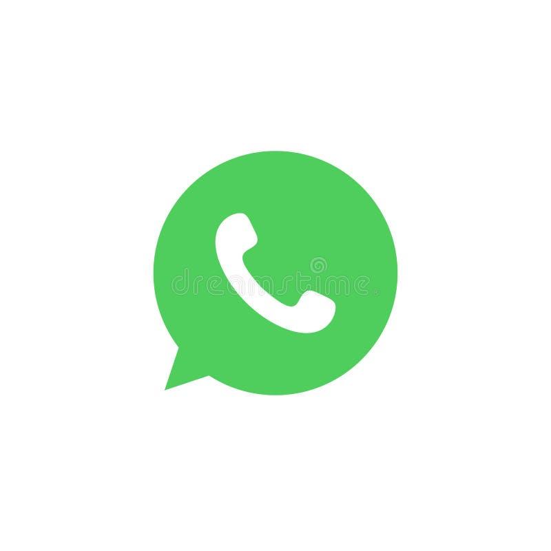 WhatsApp färbte Ikone Element der Social Media-Logoillustrationsikone Zeichen und Symbole können für Netz, Logo, mobiler App verw stock abbildung