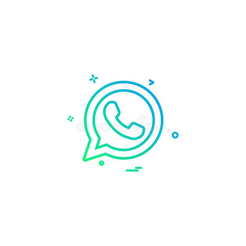 Telephone Icon, Whatsapp Icon Vector Sign Symbol For Design Stock