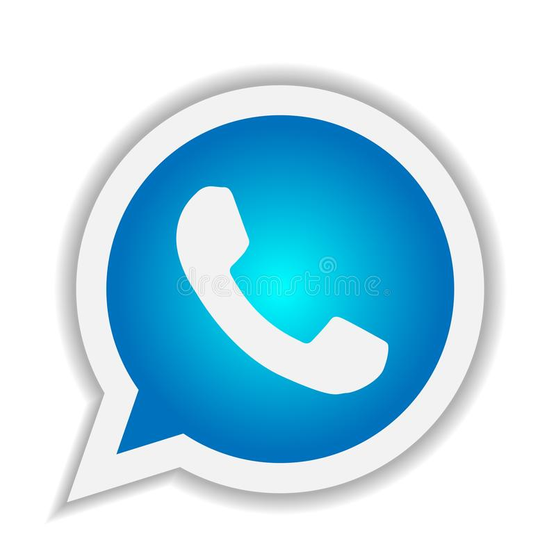 WhatsApp Icon Logo Element Sign Vector In Purple Mobile ...