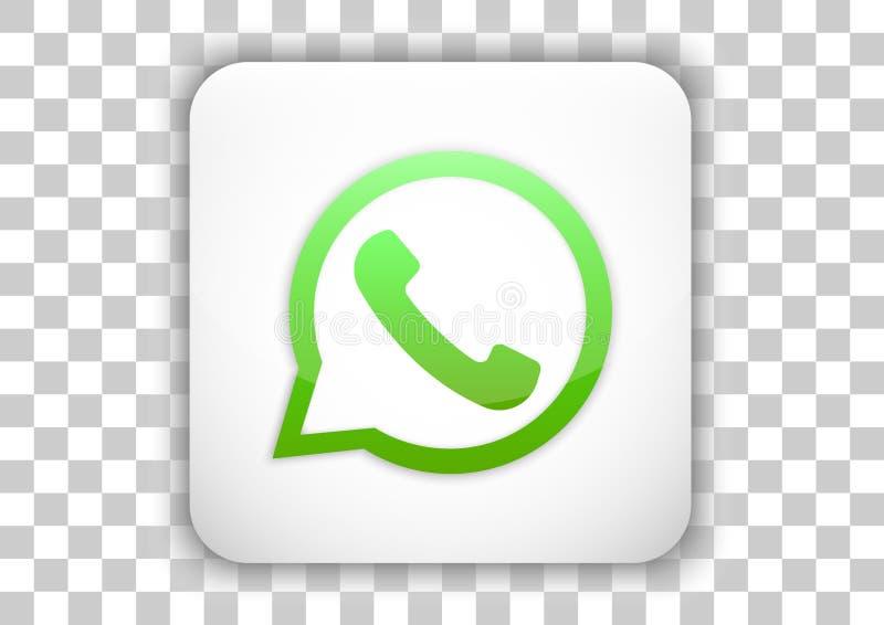 Whatsapp ikony projekt z dachówkowym guzika tłem ilustracja wektor
