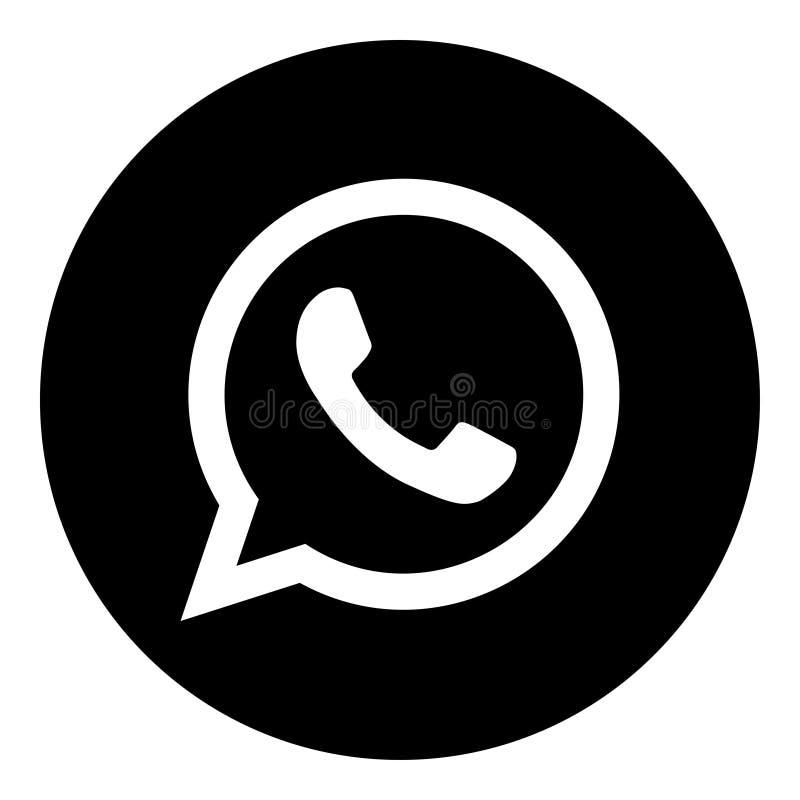 Get Whatsapp Web Logo Black And White Background