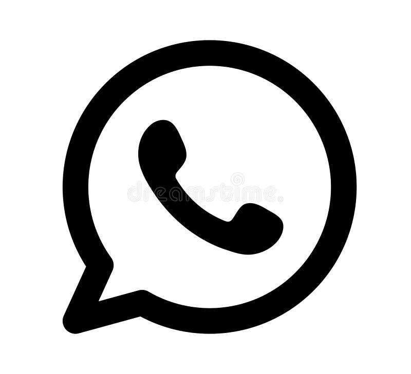 WhatsApp logo ikony projekta wektorowa czarna ilustracja ilustracji