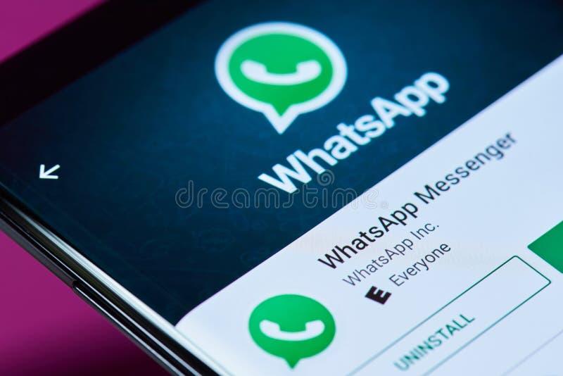 Whatsapp messenger application royalty free stock photography