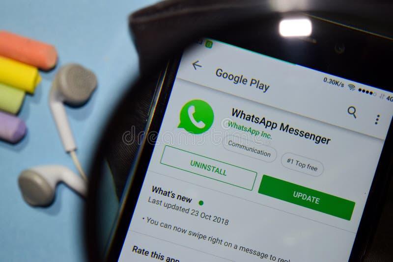 WhatsApp Messenger Dev App On Smartphone Screen  Editorial