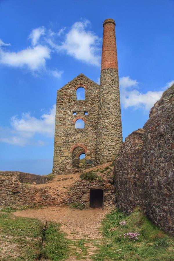Wheal Coates, St. Agnes, Cornwall, Großbritannien stockfotos