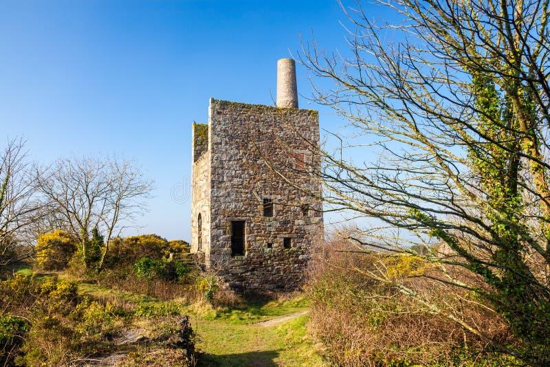 Wheal Peevor Redruth Cornwall England arkivbild