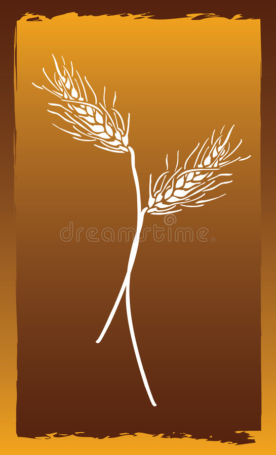 Download Wheat stock vector. Image of abstract, isolated, artistic - 8631698