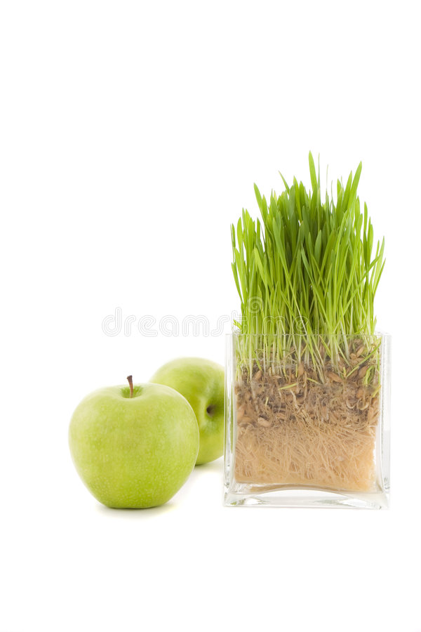Wheat and apple stock photos