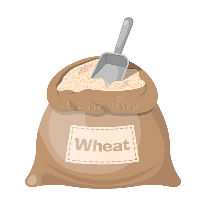 Wheat bag icon royalty free illustration