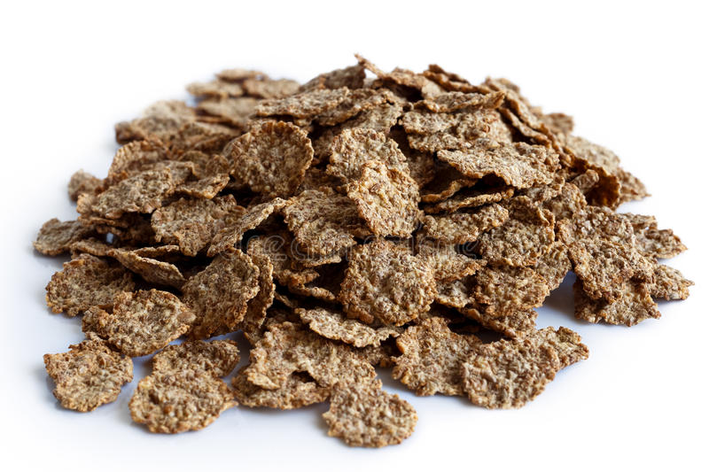 Wheat bran breakfast cereal. royalty free stock photos
