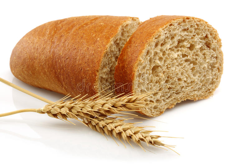 Wheat bread and Wheat stock image