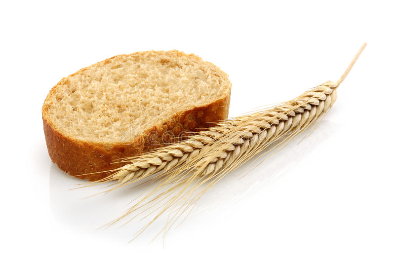 Wheat bread and Wheat stock photos