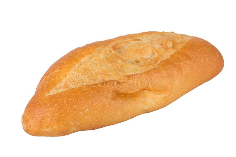 Wheat bun close on a white background.  royalty free stock photo