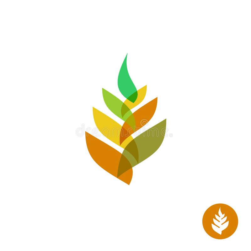 Wheat ear transparent style sign. Colorful logo royalty free illustration
