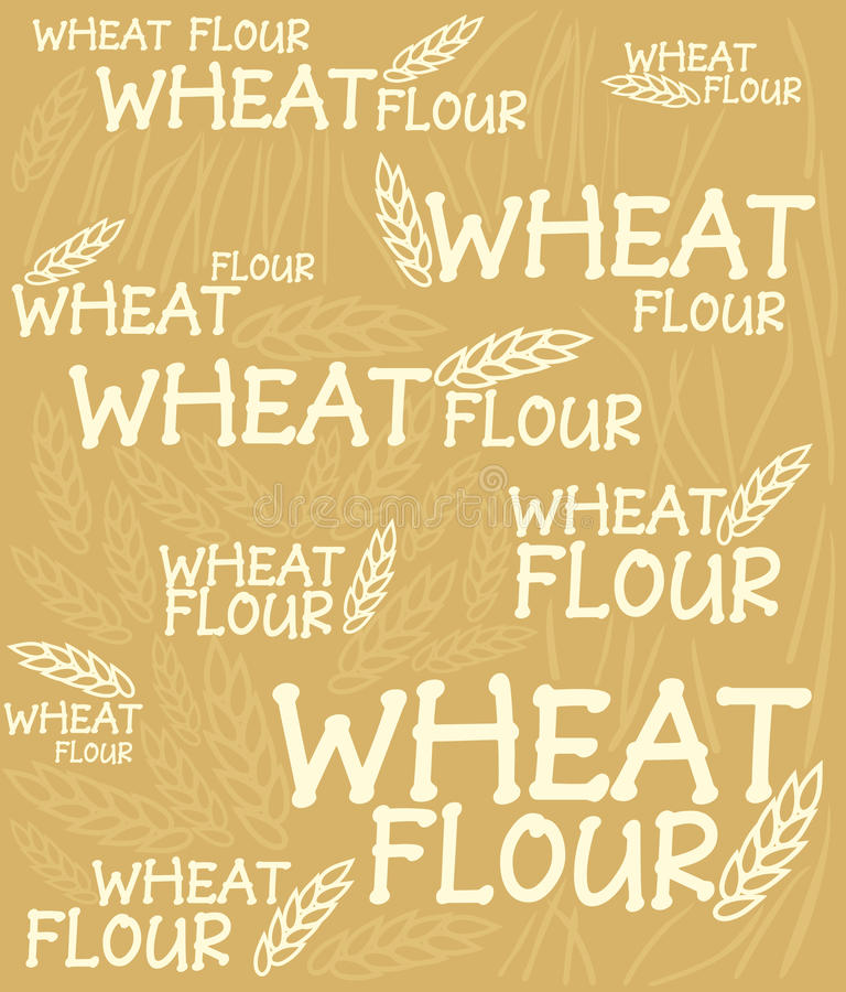 Download Wheat flour background stock vector. Image of contour - 10108193