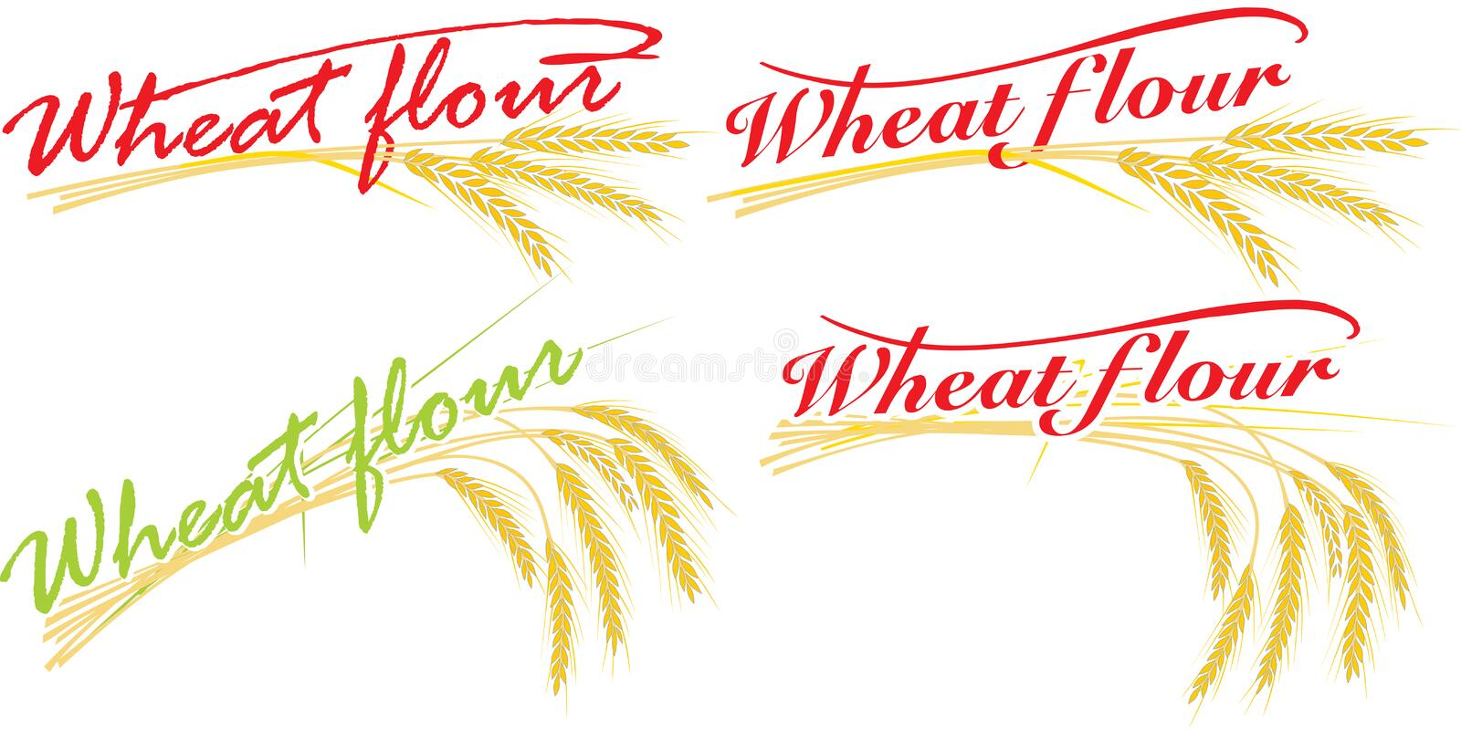Download Wheat Flour Compositions Royalty Free Stock Images - Image: 13931749