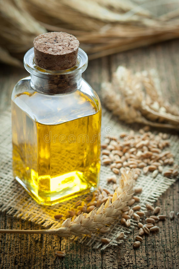 Wheat germ oil stock images